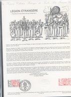 COLLECTION HISTORIQUE DU TIMBRE FRANCAIS...1607 LEGION ETRANGERE - FDC