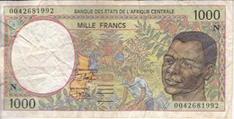 BILLETE DE GUINEA ECUATORIAL DE 1000 FRANCS DEL AÑO 2000  (BANKNOTE)  (LETRA N) - Equatorial Guinea