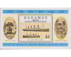 Ref. 47506 * MNH * - BAHAMAS. 1996. CENTENARY OF THE RADIO . CENTENARIO DE LA RADIO - Barcos
