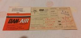 BIGLIETTO AEREO DAN AIR SERVICE LIMITED DA PALERMO A GATWICK - Billets D'embarquement D'avion