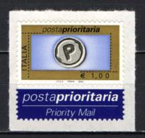 ITALIA - 2002 - POSTA PRIORITARIA - VALORE DA 1 EURO - NUOVO AUTOADESIVO - 2001-10: Mint/hinged
