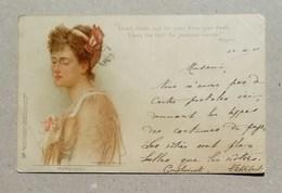 Cartolina Postale Con Frase Di Tennyson Da Maidstone Per Milano 1901 - Mujeres