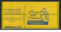 Variété Carnet Marianne De Lamouche. Papier Fluo, Couverture Décalée. - Definitives