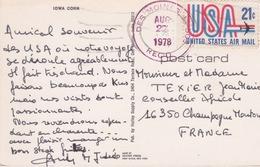 ETATS-UNIS - USA - IOWA CORN -  CHAMPS DE MAIS - VOIR ACHET AU DOS - DES MOINES - Etats-Unis