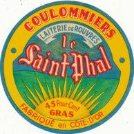 J C O 574  /  ETIQUETTE DE  FROMAGE  - COULOMMIERS  LE SAINT PHAL  LAITERIE DE ROUVRES  (COTE D'OR ) - Cheese