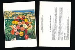 ART-carte Ouvrante F. Marius De BUZON Bouquet Sur Panorama D'Alger - Otros