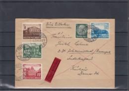 Deutsches Reich Michel Kat. Nr. Gest 764/767 Satzbrief Eilboten Frankfurt - Brieven En Documenten