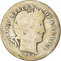 Monnaie, États-Unis, Barber Dime, Dime, 1898, U.S. Mint, New Orleans, B+ - Federal Issues