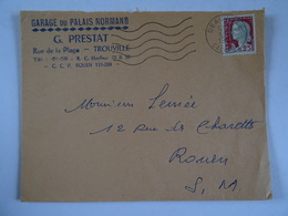 Lettre 14 DEAUVILLE 1964 GARAGE DU PALAIS NORMAND G. PRESTAT TROUVILLE - 1961-....