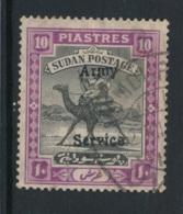 SUDAN ARMY SERVICE, 1906 10Pi False Overprint (GBP 750 If Genuine) - Sudan (...-1951)
