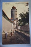 A494 Nördlingen Stadtmauer Mit Lopsinger Tor - Allemagne