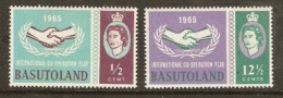 Basutoland  1965    SG  100-1  I.C.Y.  Mounted Mint - 1965-1966 Autonomia Interna