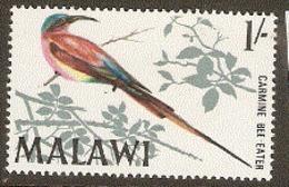 Malawi  1968 SG 316  Carmine Beeeater  Lghtly Mounted Mint - Malawi (1964-...)