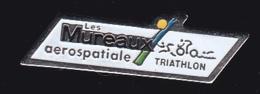 64432-Pin's  -Aérospatiale Les Mureaux.Triathlon - Espace