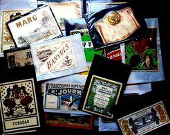 ALCOOL BOISSON MARC GENTIANE ETC...  ETIQUETTES ANCIENNES 1920/1960 DE NOMBREUSES FABRIQUES - Labels