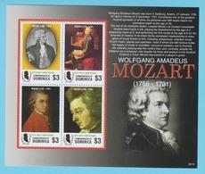 J.P.S. 7 - Musique - Timbre - Compositeur - N° 58 - Dominique - Mozart - N° Yvert 3237 à 3240 - Musique