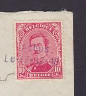 OBLITERATION DE FORTUNE AVEC DATE ATHUS   / Lettre Vers BRUXELLES Lsc - 1915-1920 Albert I