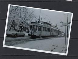 REPRODUCTION TRAM Sous La Neige Scheepdaal Ligne De Ninove Voiture Citroen DS - Strassenbahnen