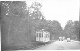 MONS Environs (Belgique) Photographie Format Cpa Tramway électrique 1950 - Mons