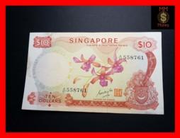 SINGAPORE 10 $ 1970 P. 3 B  VF - Singapore