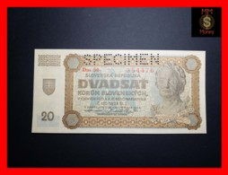 SLOVAKIA 20 Korun 11.9.1942  P. 7 S  UNC - Slowakei