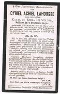 GRAMMENE - ANTWERPEN - ST.GENIS-LAVAL - INGELMUNSTER  - Doodsprentje Van Cyriel LAHOUSSE, Gesneuvelde  + 1917 - Devotion Images