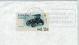 ATM Malaga Principal - Codigo Postal - Postleitzahlen - Briefstück - 1931-Heute: 2. Rep. - ... Juan Carlos I