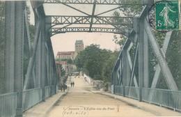 95) AUVERS-SUR-OISE : L'église Vue Du Pont (1908) - Auvers Sur Oise
