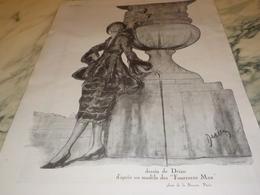 ANCIENNE PUBLICITE LES FOURRURES MAX  1920 - Habits & Linge D'époque