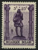 [A1295] België 622-V2 * - Vlek Onder België - Tache Sous België - Variétés (Catalogue COB)