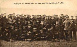 Arnstadt I. Thür FELDLAGER DES NEUEN RES INF REG NO 234 FELDPOST   1914/15 WWI WWICOLLECTION - Arnstadt