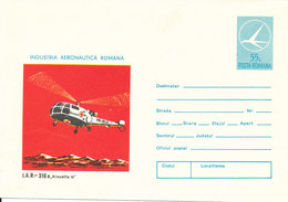 Romania  Postal Stationery Cover 1974 In Mint Condition Romanian RED CROSS Helicopter - Postal Stationery