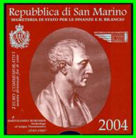 "2004 – SAN MARINO – 2 € CONMEMORATIUVA DE ""BARTOLOMEU BORGHESI"" - San Marino"