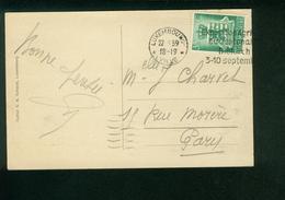 AK Luxembourg, Vue Generale, Michel 321?, Sonderstempel Diekirch 1939 Exposition Agricole Du Centenaire - Marcophilie - EMA (Empreintes Machines)