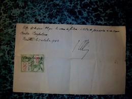 Vieux Papier    ( Belgique ) Timbre Fiscal De O,30ct Sur Document 1943 - Revenue Stamps