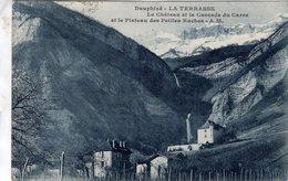 Dauphiné  -  La Terrasse  -  Le Chateau Et La Cascade Du Carre -  CPA - Andere Gemeenten