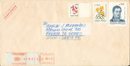 Argentina Registered Cover 11-11-1985 With More Topic Stamps - Argentina