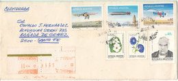 Argentina Registered Cover 6-5-1985 With More Topic Stamps - Argentina