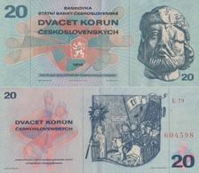 Czechoslovakia / 20 Korun / 1970 / P-92(a) / AUNC - Cecoslovacchia