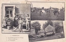 52 - PIERREFAITE - Le Troupeau De Vaches Partant Au Pâturage Et La Fromagerie - A Voir 2 Scans - France