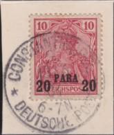 Deutsch Turkei    .   Michel  .    13 I  Auf Papier     .       O      .     Gebraucht   /   .   Cancelled - Bureau: Turquie
