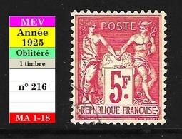 Timbre N° 216 : Exposition Philatélique Internationale De Paris - France