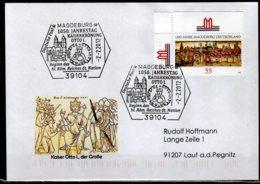 2012 Germany 1050 Jahrestag Kaiserkronnung Vom Otto I Start Of Roman German Empire Magdeburg Special Cancelation Church - [7] West-Duitsland