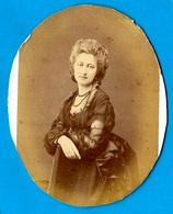PHOTO Photographie CDV Charles Hideux (découpée En Ovale) Baronne Jeanne De Saint-Brisson St * Noblesse - Identified Persons
