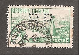 Perforé/perfin/lochung France No  301 R.P Rhône Poulenc - France