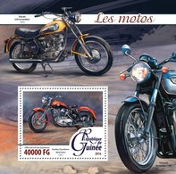 Guinea, 2016. [gu16216] Motorcycles (s\s+block) - Moto