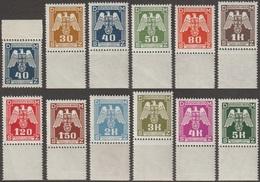 3/ Bohemia & Moravia; Service - ** Nr. SL 13-15,17-24 - Border Stamps - Unused Stamps