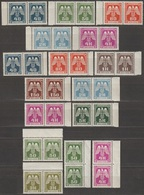 6/ Bohemia & Moravia; Service - ** Nr. SL 13-24 - Border Pairs - Unused Stamps