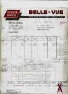 -Facture-bières,GUEUZE,kriek ,BELLE VUE-Anc. Ets.Vanden Stock - 31/12/65- Vers Haine - Facturen