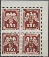 53/ Bohemia & Moravia; Service - ** Nr. SL 20 - Corner 4-block - Bohemia & Moravia